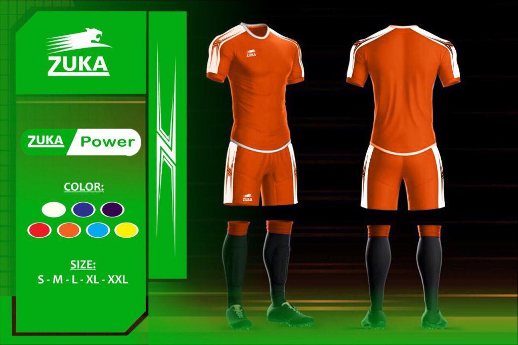 Áo bóng đá Zuka 1 màu cam chính hãng độc quyền phân phối Belo