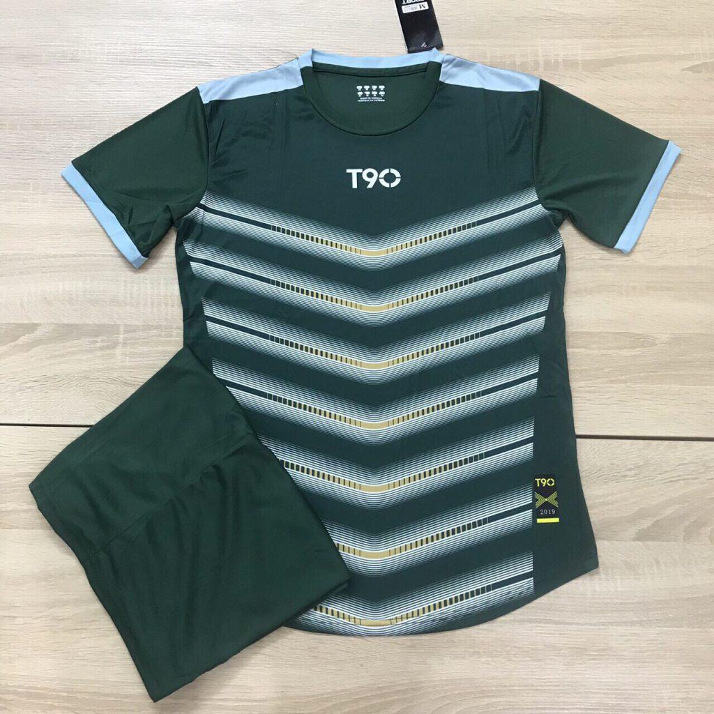 Áo bóng đá không logo T90 AKG màu xanh lá