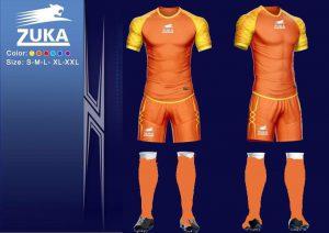 Áo bóng đá Zuka 1 màu cam vàng chính hãng độc quyền phân phối Belo