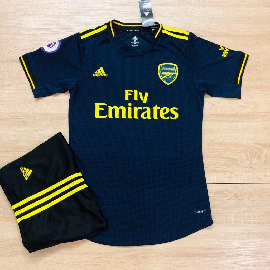 Áo bóng đá CLB Arsenal màu tím than sân khách mùa 2019-2020