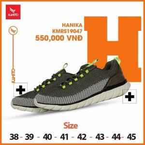 Giày chạy bộ Kamito Hanika KMRS 19047 chính hãng màu xanh lục