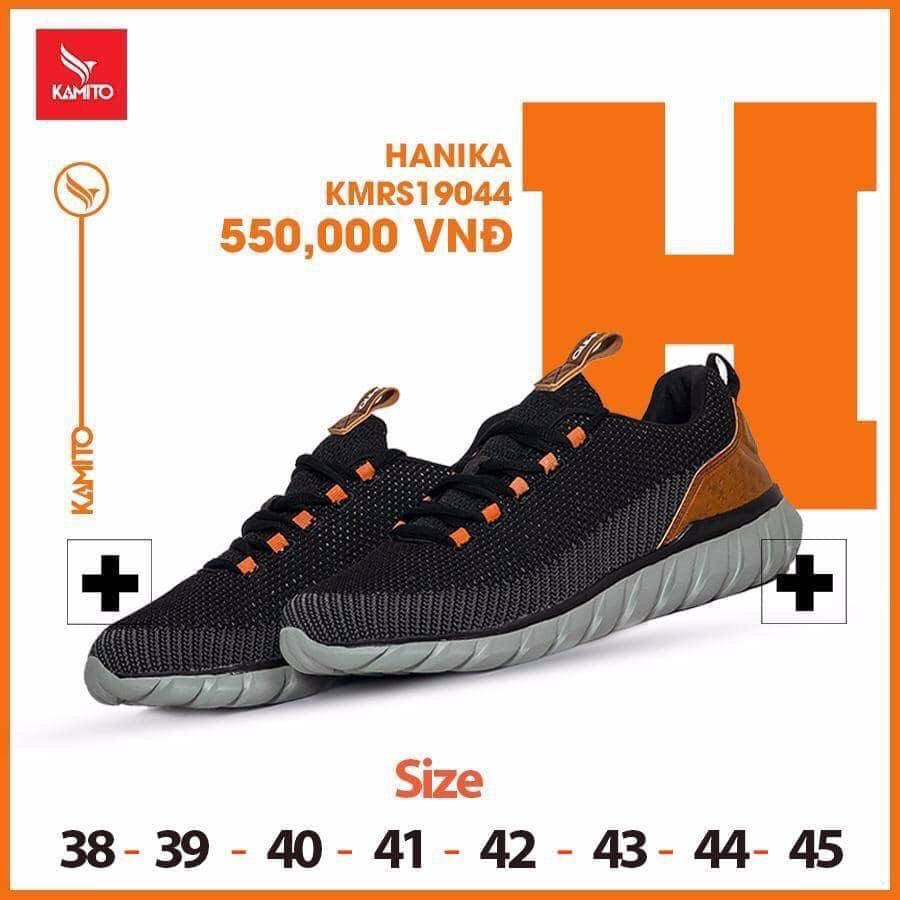 Giày chạy bộ Kamito Hanika KMRS 19044 chính hãng màu đen 2