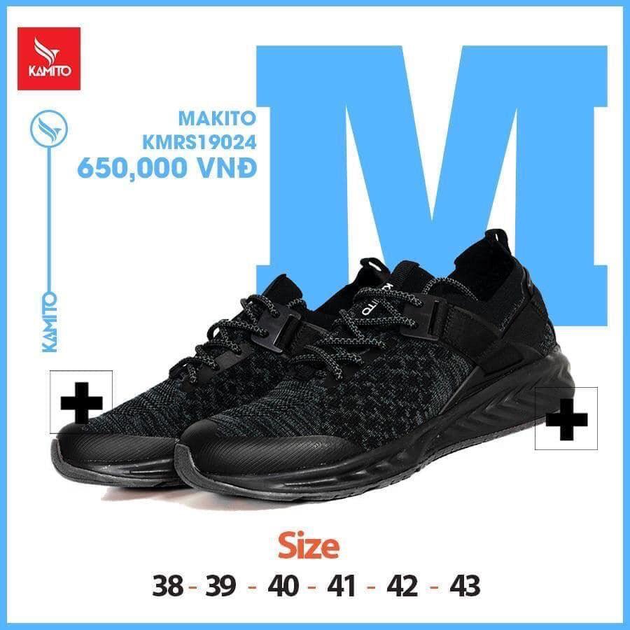 Giày chạy bộ Kamito KMRS 19024 chính hãng màu đen