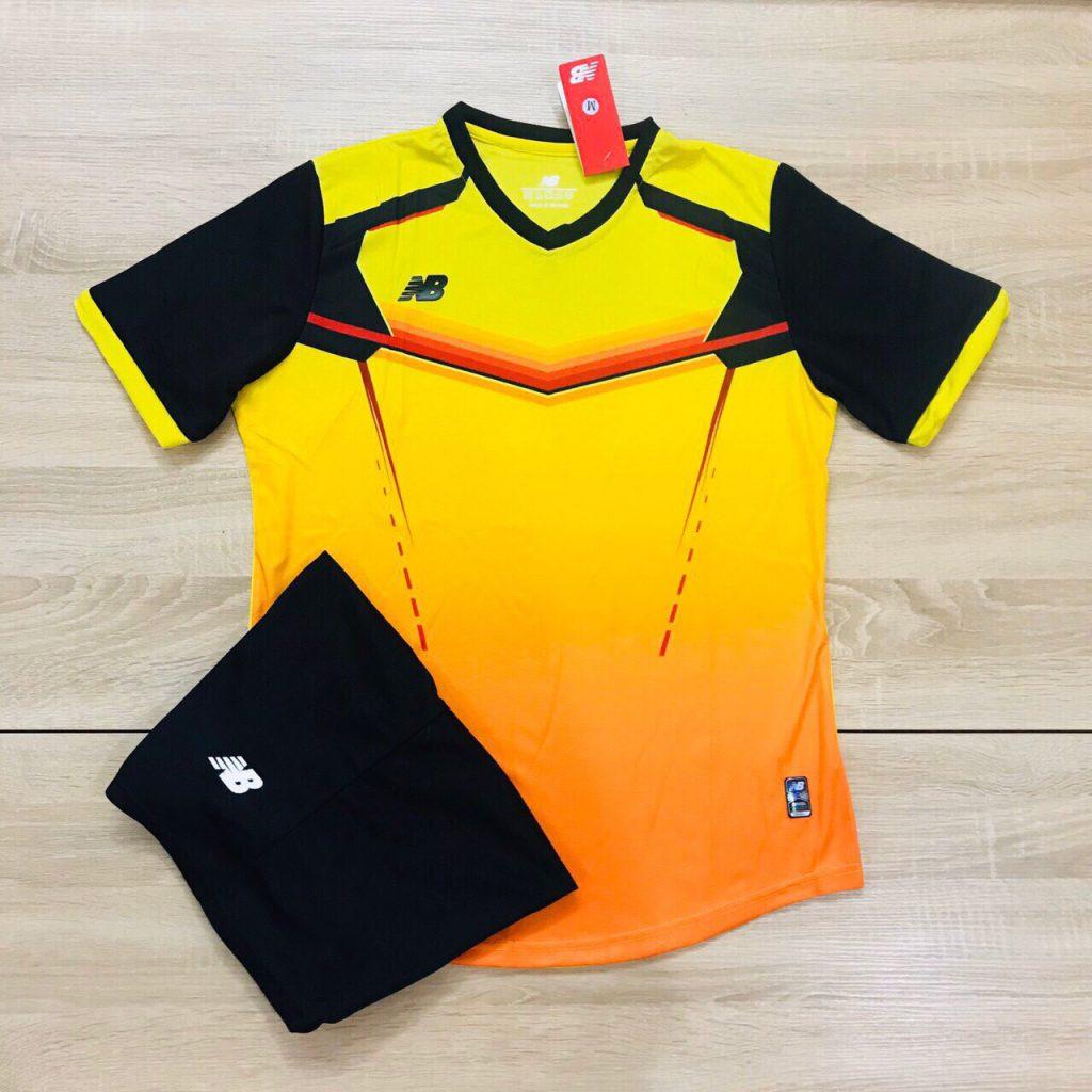 Áo bóng đá không logo NB v2 màu vàng cam độc quyền Belo Sport