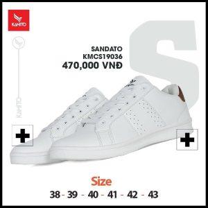 Giày chạy bộ Kamito Sandato KMRS 19036 chính hãng màu trắng