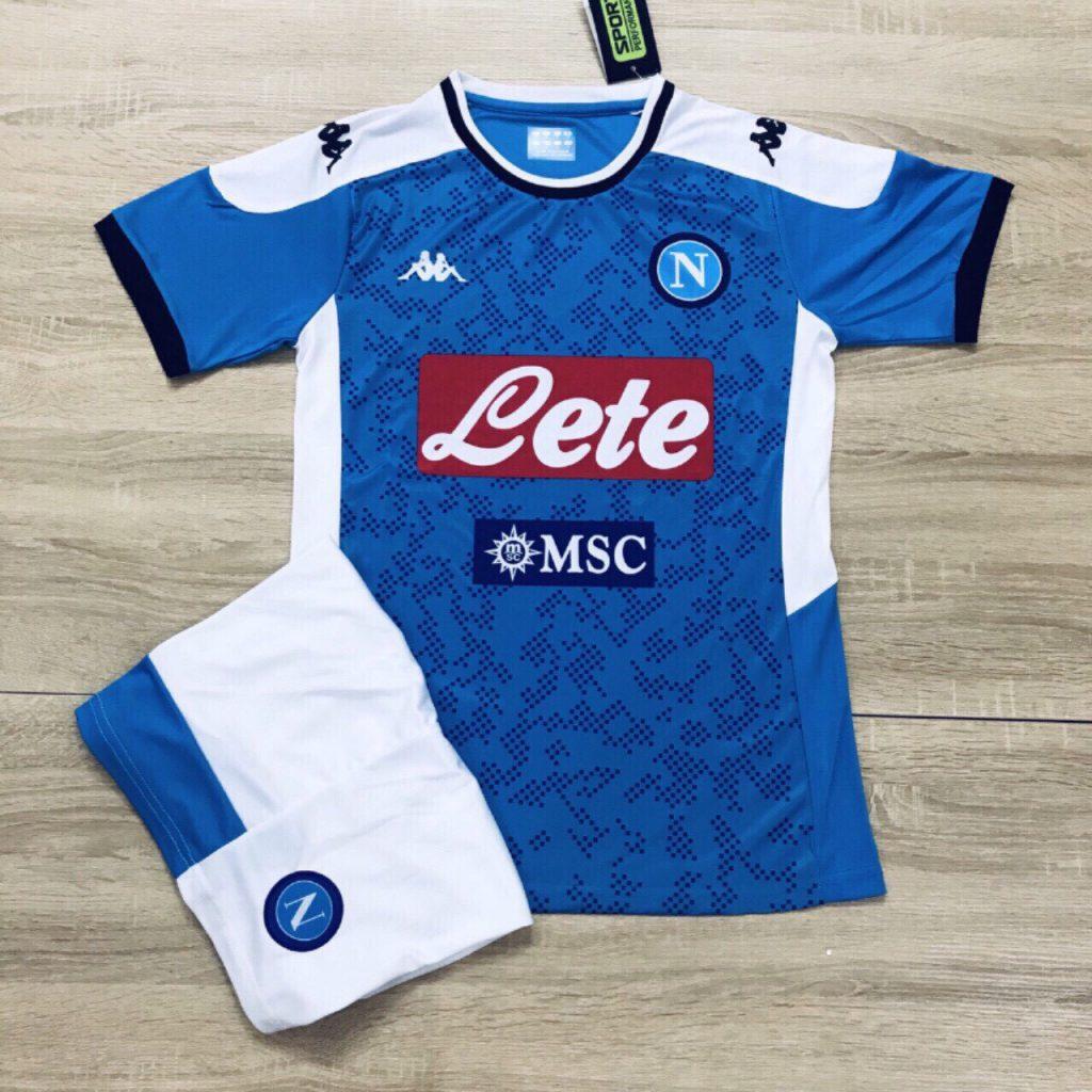 Áo bóng đá CLB Napoli xanh trắng mùa giải 2019-2020
