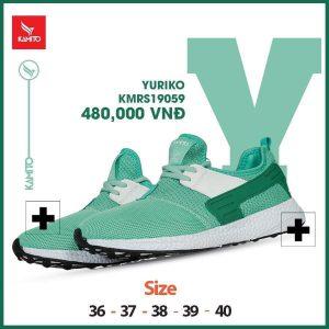 Giày chạy bộ Kamito Yuriko KMRS 19059 chính hãng màu xanh lục