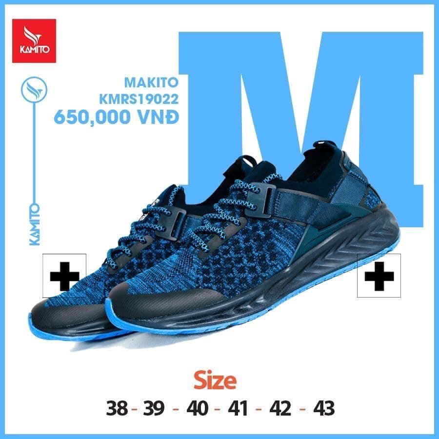 Giày chạy bộ Kamito Makito KMRS 190512 chính hãng màu xanh dương