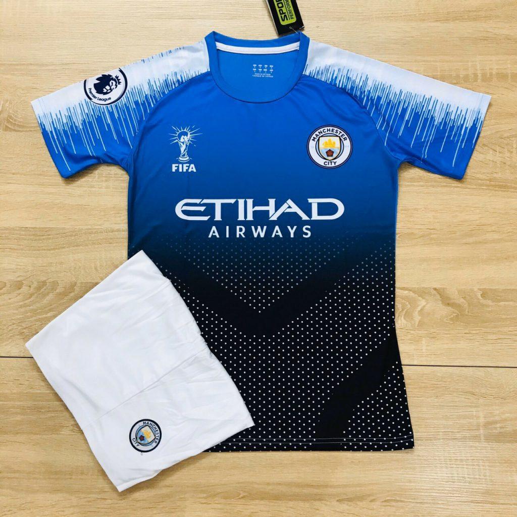 Áo bóng đá câu lạc bộ Man City màu xanh đen