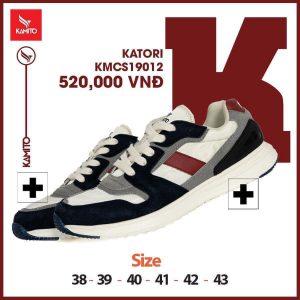 Giày chạy bộ Kamito Katori KMRS 19012 chính hãng màu đen