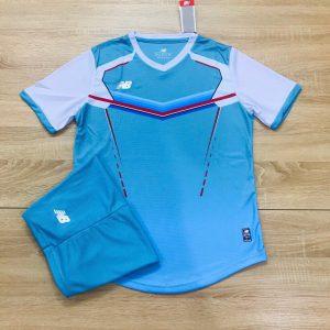 Áo bóng đá không logo NB v2 màu xanh da trời độc quyền Belo Sport