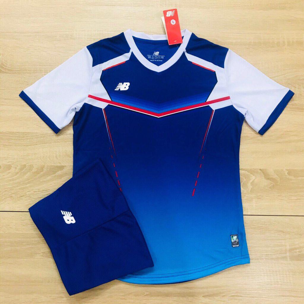 Áo bóng đá không logo NB v2 màu xanh dương độc quyền Belo Sport