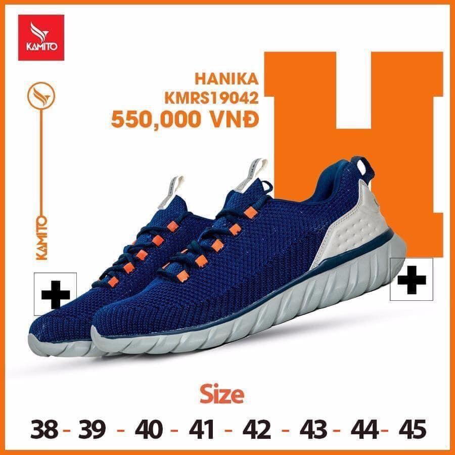 Giày chạy bộ Kamito Hanika KMRS 19042 chính hãng màu xanh dương