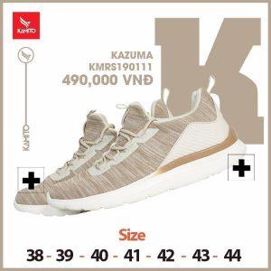 Giày chạy bộ Kamito Kazuma KMRS 190111 chính hãng màu cafe sữa