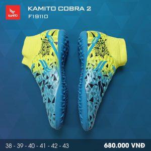 Giày bóng đá Kamito Cobra 2 màu xanh vàng chính hãng