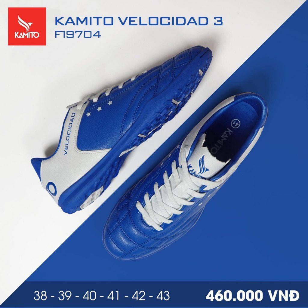 Giày bóng đá Kamito velocidad 3 màu xanh dương chính hãng