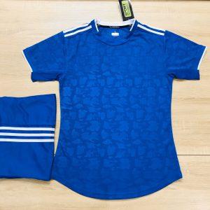 Áo bóng đá không logo mô phỏng áo CLB màu xanh dương