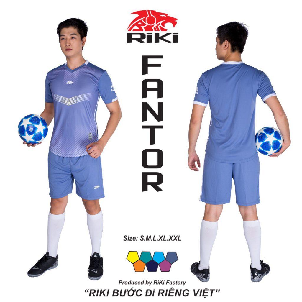 Áo bóng đá không logo Riki màu xanh tím độc quyền phân phối Belo sport