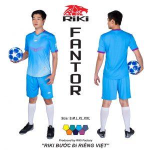 Áo bóng đá không logo Riki màu xanh da trời độc quyền phân phối Belo sport