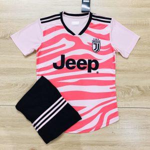 Áo bóng đá CLB Juventus màu hồng đỏ độc quyền Belo Sport