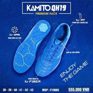 Giày bóng đá Kamito QH19 Premium Pack màu xanh dương chính hãng