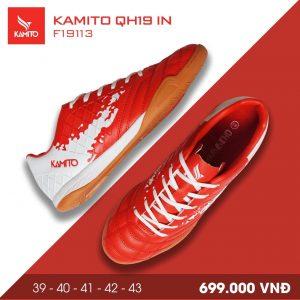 Giày bóng đá Kamito QH19 In màu đỏ trắng chính hãng