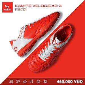 Giày bóng đá Kamito velocidad 3 màu đỏ chính hãng