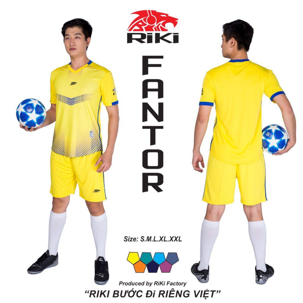 Áo bóng đá không logo Riki màu vàng độc quyền phân phối Belo sport