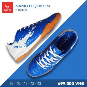 Giày bóng đá Kamito QH19 IN màu xanh trắng chính hãng
