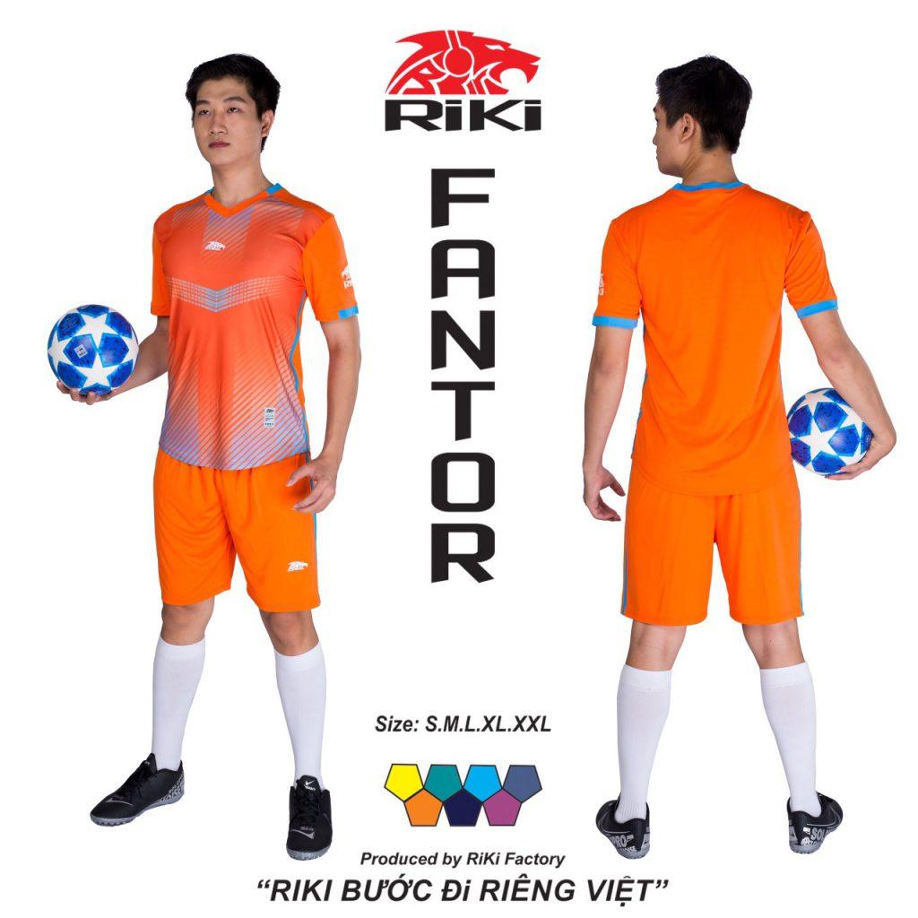 Áo bóng đá không logo Riki màu cam độc quyền phân phối Belo sport