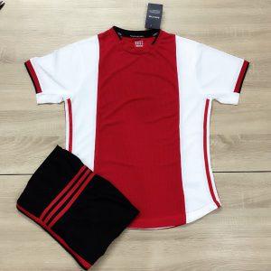 Áo bóng đá không logo mô phỏng áo CLB màu đỏ trắng