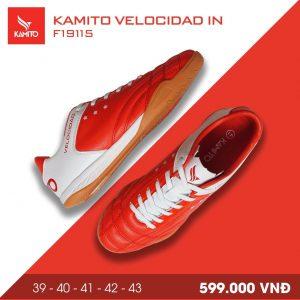 Giày bóng đá Kamito velocidad IN màu đỏ đế cam chính hãng