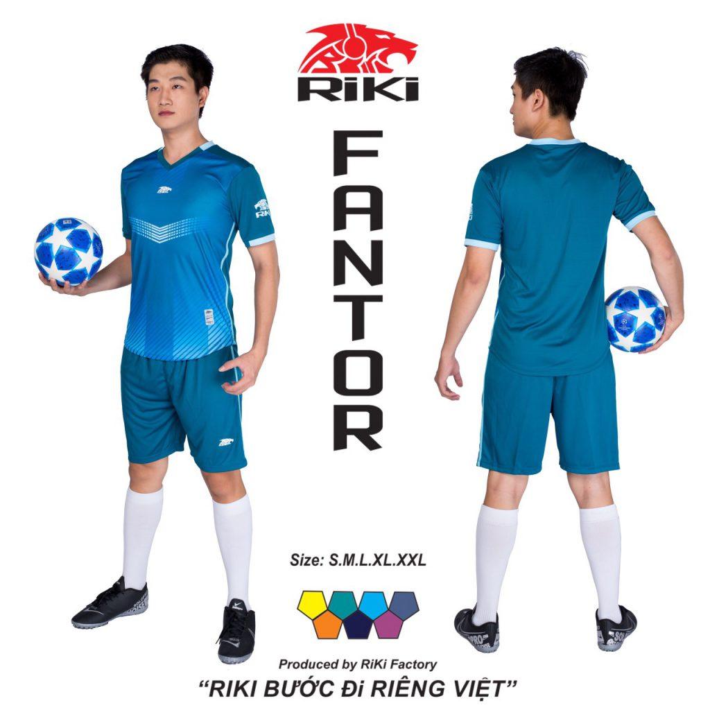 Áo bóng đá không logo Riki màu xanh dương độc quyền phân phối Belo sport