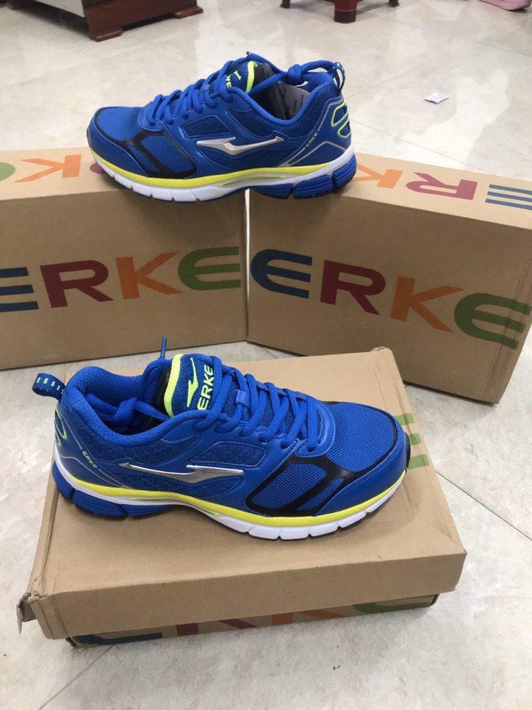 Giày bóng chuyền, cầu lông Eker chính hãng màu xanh