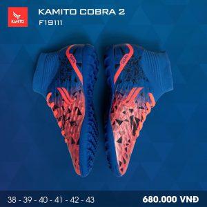 Giày bóng đá Kamito Cobra 2 màu xanh dương chính hãng