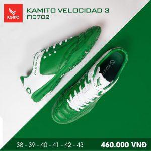 Giày bóng đá Kamito velocidad 3 màu xanh lá chính hãng