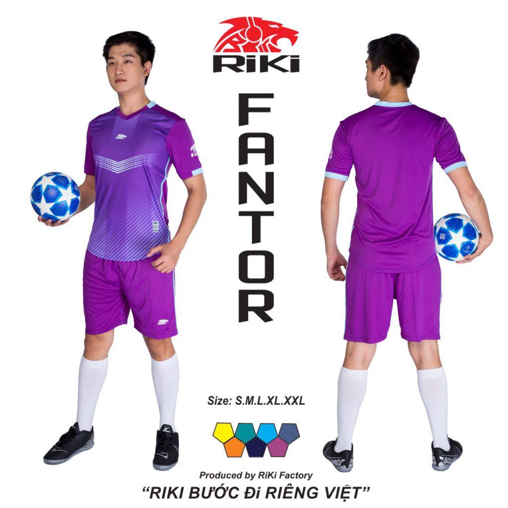 Áo bóng đá không logo Riki màu tím độc quyền phân phối Belo sport