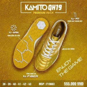 Giày bóng đá Kamito QH19 Premium Pack màu vàng chính hãng