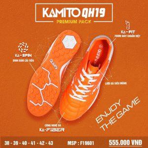 Giày bóng đá Kamito QH19 Premium Pack màu cam chính hãng