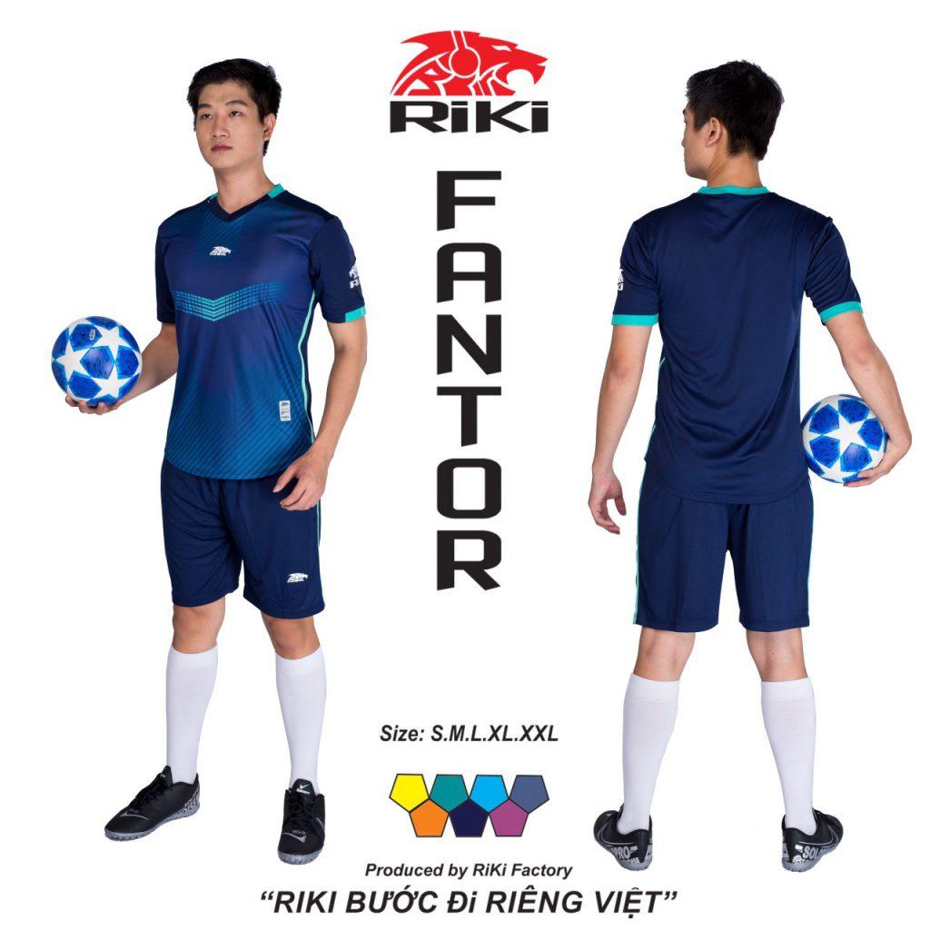 Áo bóng đá không logo Riki màu xanh đậm độc quyền phân phối Belo sport