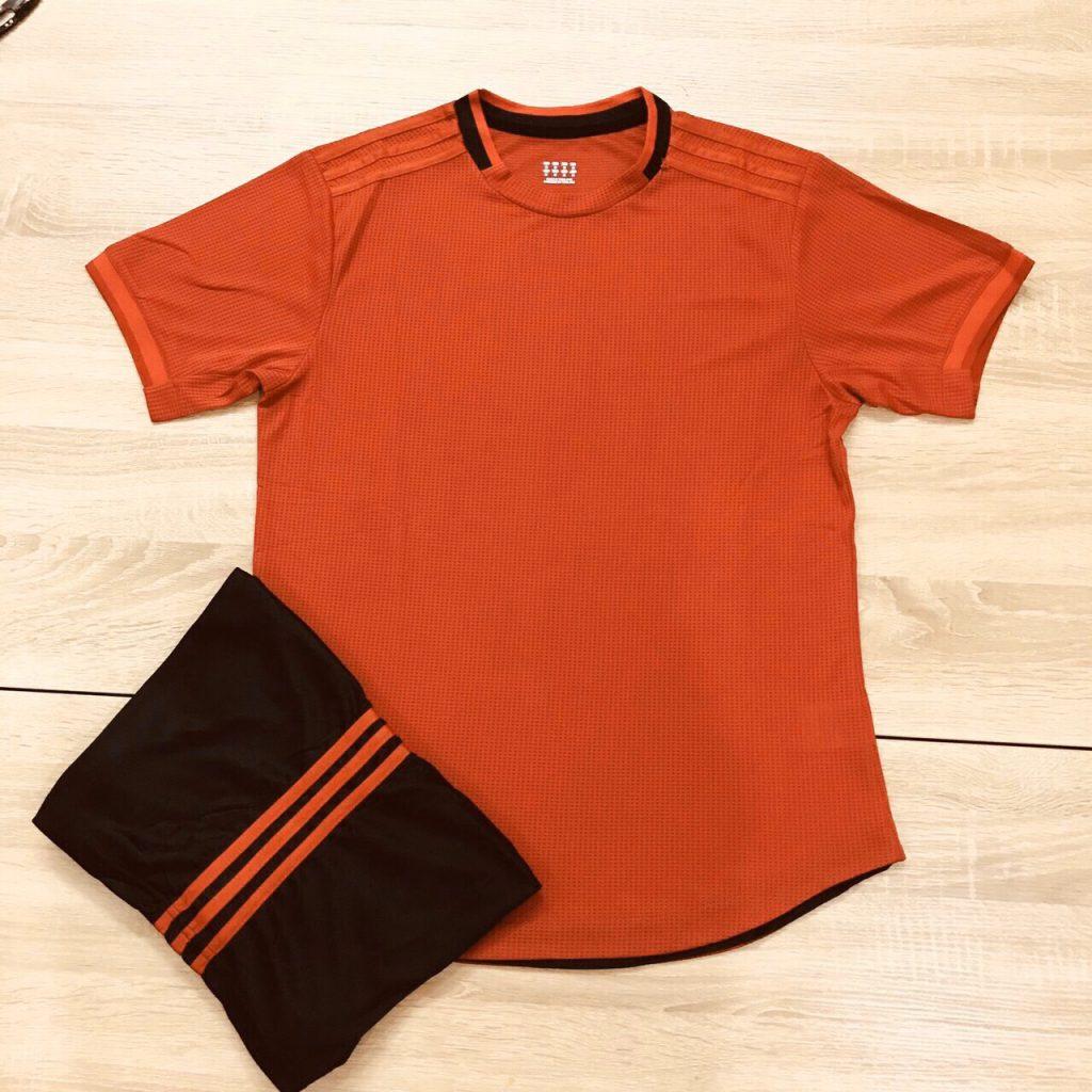 Áo bóng đá không logo mô phỏng áo CLB màu cam