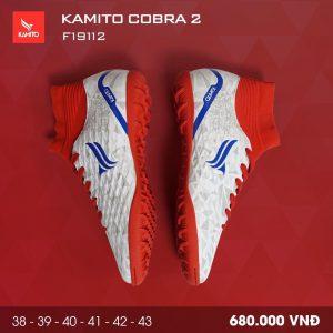 Giày bóng đá Kamito Cobra 2 màu đỏ trắng chính hãng