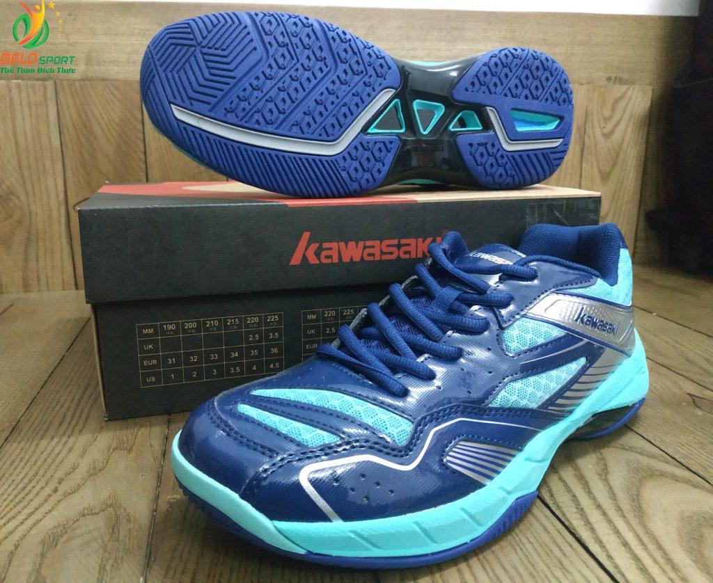 Giày bóng chuyền, cầu lông Kawasaki K159 chính hãng màu xanh lục