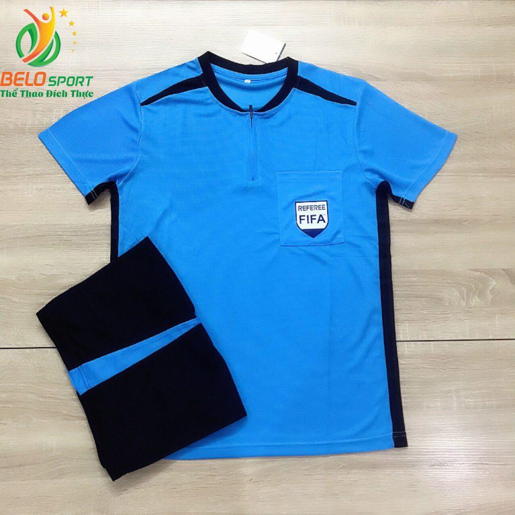 Áo trọng tài FIFA 2019 màu xanh ngọc