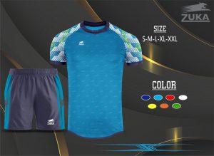 Áo bóng đá không logo zuka màu xanh dương 2019-2020