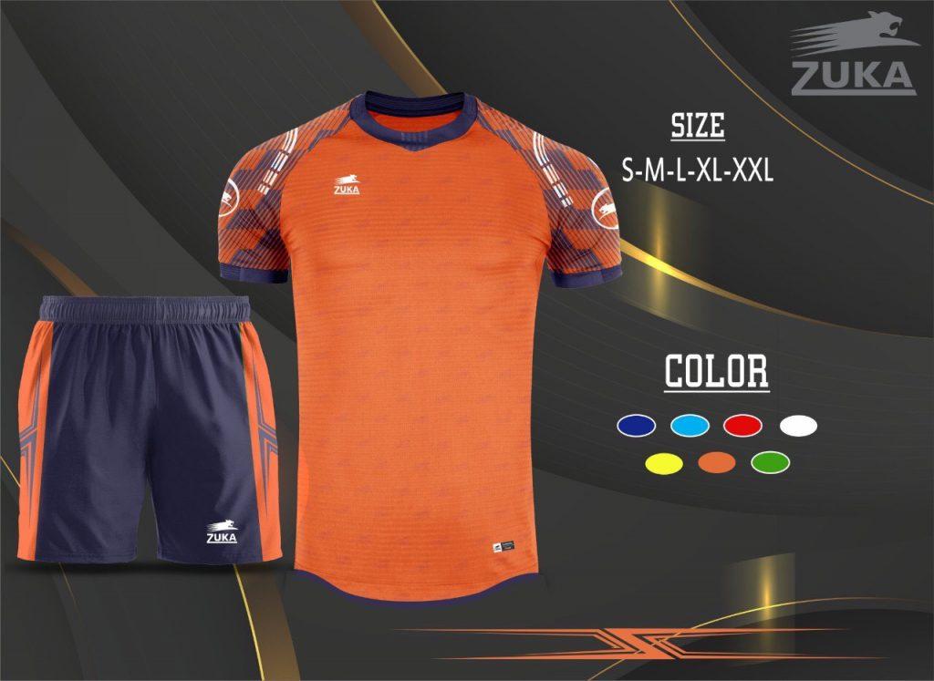 Áo bóng đá không logo zuka 2019-2020 màu cam