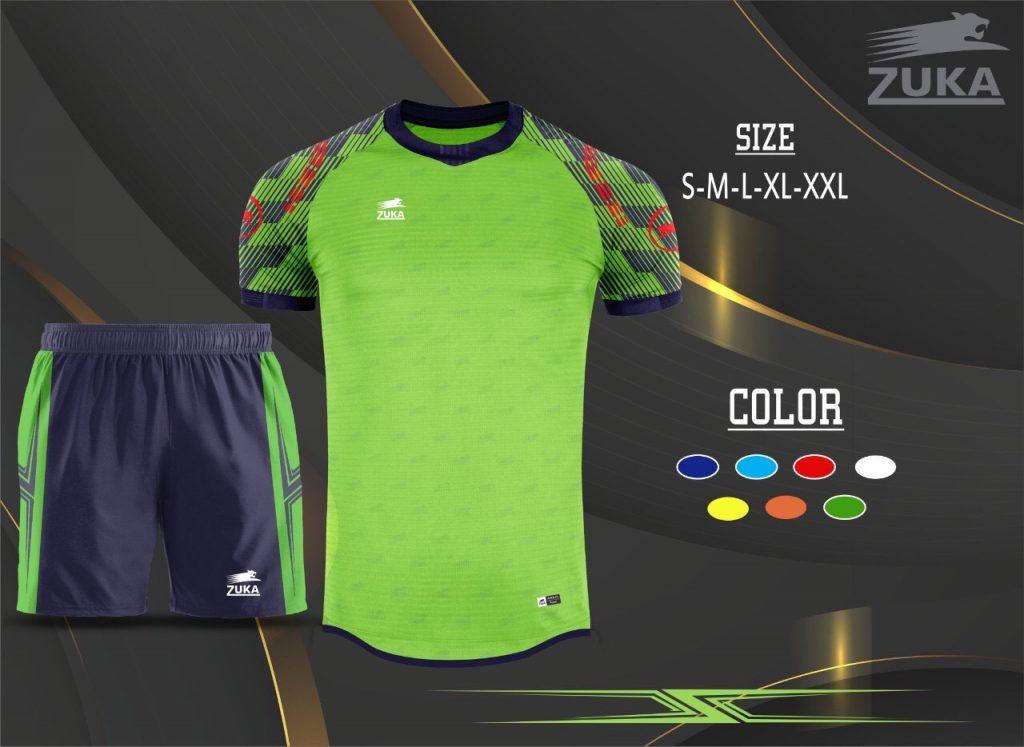 Áo bóng đá không logo zuka 2019-2020 màu xanh lá