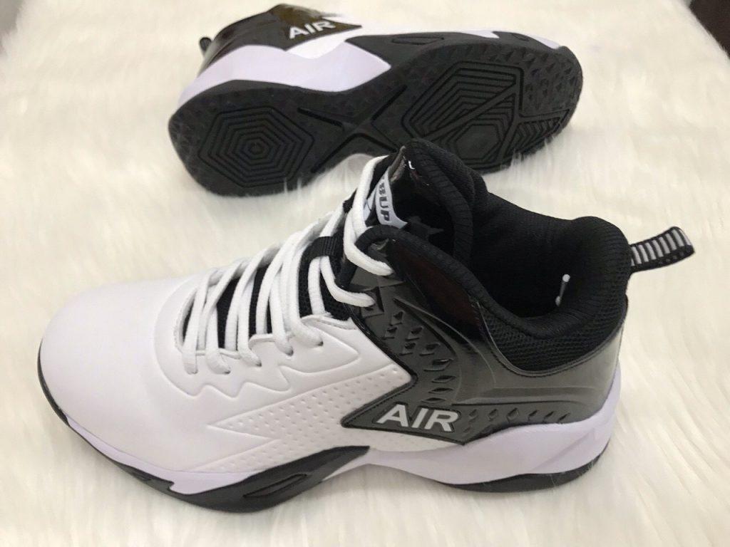 Giày bóng rổ màu trắng đế đen LZBU độc quyền phân phối Belo Sport