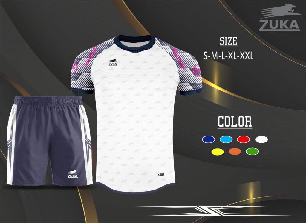 Áo bóng đá không logo zuka 2019-2020 màu trắng