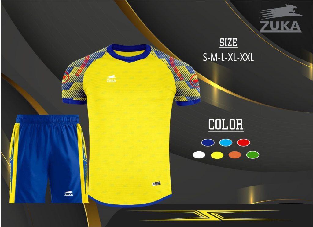 Áo bóng đá không logo zuka màu vàng 2019-2020